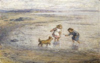 children at play, largo bay by hugh cameron