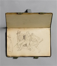 ohne titel (sketchbook w/29 works) by gustav ferdinand könig
