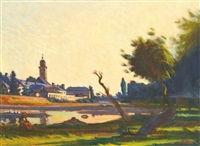 baia mare in the sunset by andrás mikola
