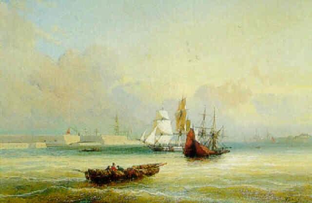 bateaux à lentrée du port by louis gabe