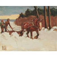 the snow plough by kate adeline smith hoole