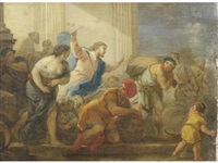 the cleansing of the temple by luca giordano