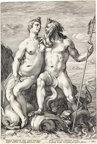 jupiter and juno * neptune and amphitrite (2 works) by hendrik goltzius