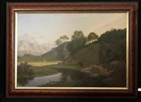 schweizer landschaft (collab. w/p. cornelius) by wilhelm jakob huber