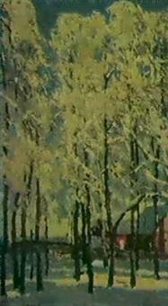 arbres sous la neige by viktor bolchakov