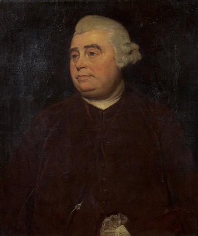 portrait of edward gibbons by johann joseph zoffany
