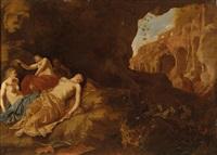 ein satyr überrascht die schlafenden nymphen der diana by dirck van der lisse