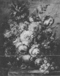 still life of flowers by louis arbant