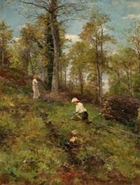 dama en el campo by serafín avendaño