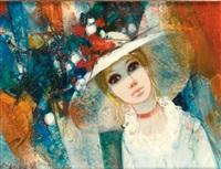 le chapeau à fleurs by jean-baptiste valadie