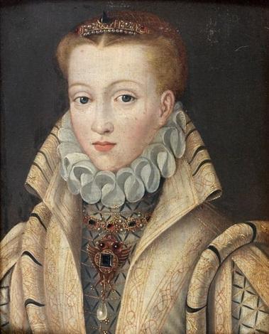 portrait danne dautriche fille de lempereur maximilien ii reine despagne femme de philippe ii by flemish school 16