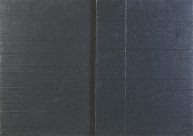 level (diptych) by lucio pozzi