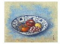 fruits in the bowl by daijo aoki