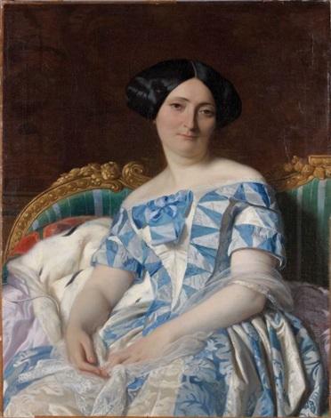 portrait délégante dans un sofa by alexandre cabanel