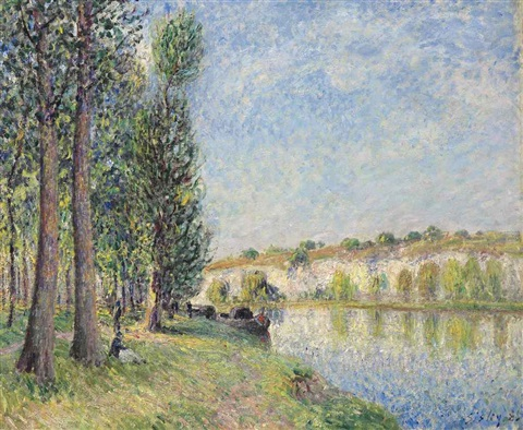 le loing à moret by alfred sisley