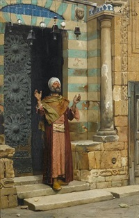 at the door of the mosque by ludwig deutsch