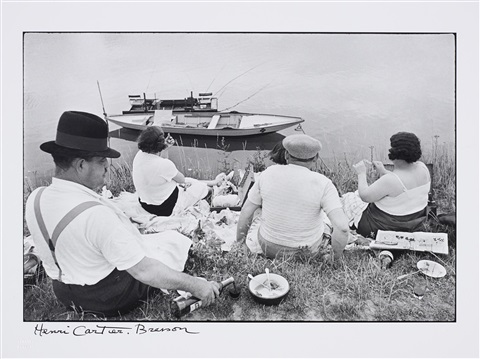 on the banks of the marne by henri cartier bresson