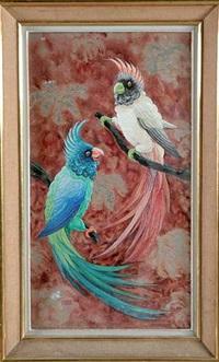 deux perroquets perchés by p. raffy