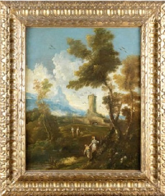 paysage animé by antonio francesco peruzzini alessandro magnasco
