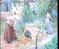 the kitchen garden by william small
