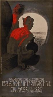 esposizione internazionale, milano by leopoldo metlicovitz