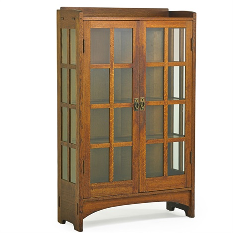 Double Door China Cabinet (no. 815) By Gustav Stickley