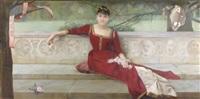 aux grands écrivains (portrait de jeanne guinon-lemerre) by paul alexandre alfred leroy