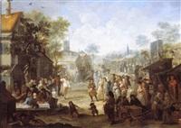 scène de foire dans une ville des flandres by pieter angeli
