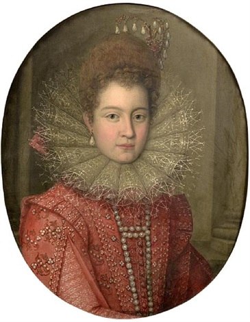 portrait of a noblewoman said to be margaret of austria duchess of parma by scipione pulzone