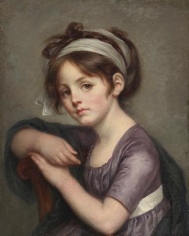 portrait of a young girl by jean baptiste greuze