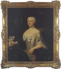 portrait de madame de barrigue de fontainieu by claude arnulphy