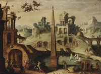 the temptation of saint anthony by claes dircksz van der heck