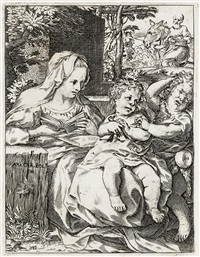 the madonna of the swallow by annibale carracci