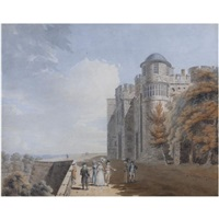 the north terrace, windsor castle by edward dayes