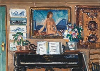 interior, piano by gifford beal
