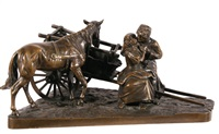 lovers by a haycart by hans guradze