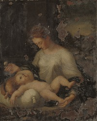 the madonna and child by girolamo mazzola bedoli