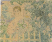 Lady in the Garden, 1920