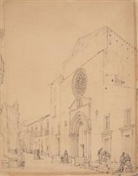 ansicht von sant'agostino in palermo by ivo ambroise vermeersch