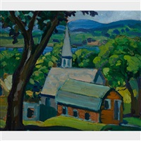 country church by kathleen moir morris