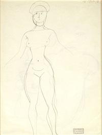 portrait de femme (+ etude de femme nue, verso) by andré derain