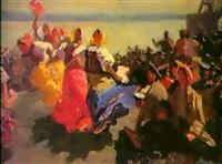 danse folklorigue, 1957 by mikhail volodine