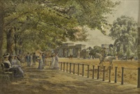 hyde park, rotten row, summer morning by fritz b. althaus