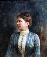 női portré by karoly gerster