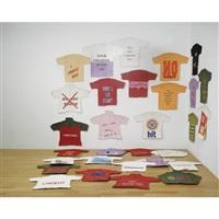chatter thirty cast paper pulp tee-shirts by ravikumar kashi