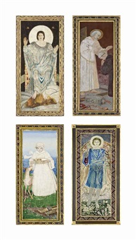 four panels from the sneaton castle altarpiece by john duncan