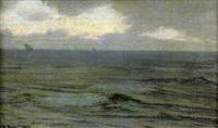 voiliers en pleine mer by alexander harrison