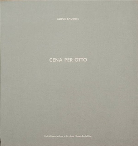 cena per otto portfolio of 8 by alison knowles