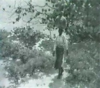 caribbean woman walking through a mangrove by frank o. small