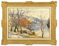 la seine aux andelys en hiver by franck innocent